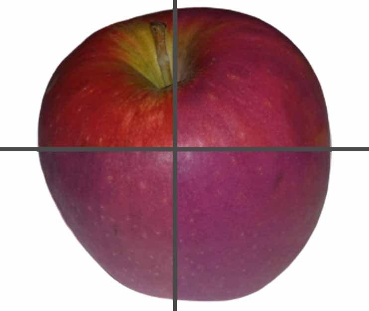 Как может выглядеть яблоко при разных значениях CRI
