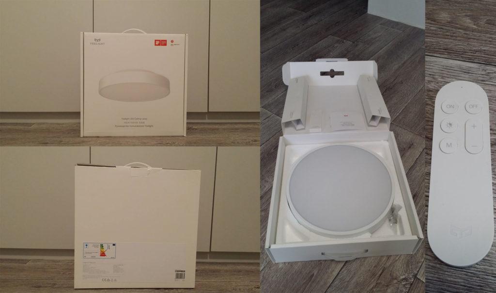Комплект поставки, пульт и коробка YLXD12YL