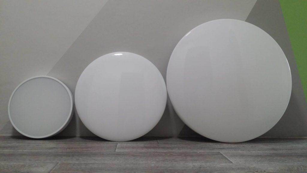 Сравнение размеров умных светильников Yeelight