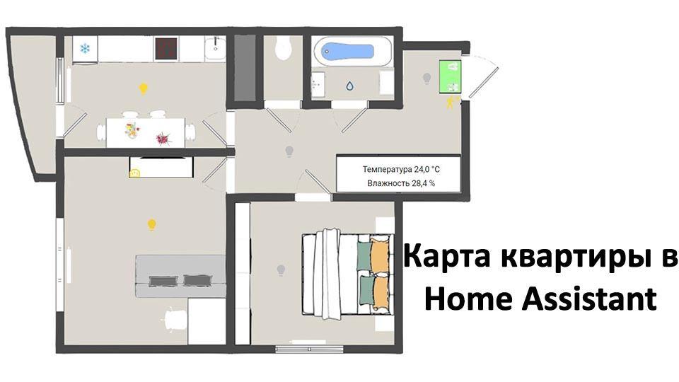 Карта дома в Home Assistant