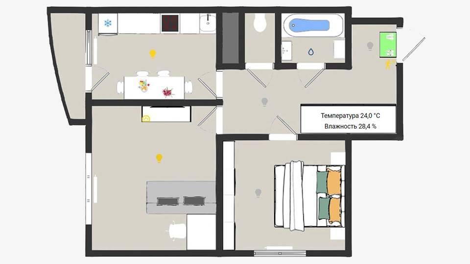 Моя квартира в Home Assistant